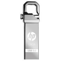 【大部分地区包邮】惠普(HP)金属钩头U盘USB3.0(X750W) 128G 全金属外观 钩钩头设计 不易丢失