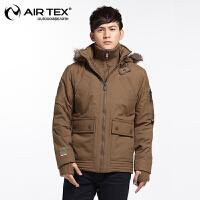 AIRTEX亚特冬装棉服冲锋衣服户外男女外套休闲连帽加厚保暖棉衣