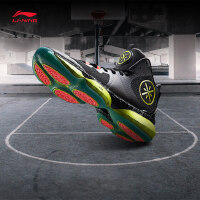 李宁篮球鞋男鞋减震回弹耐磨防滑网面鞋子中帮运动鞋ABAM075
