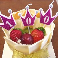 儿童生日皇冠数字蜡烛 金色蜡烛 生日派对布置用品 皇冠生日蜡烛