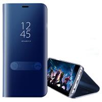 坚达 手机壳电镀镜面保护套皮套翻盖手机套外壳 适用于三星NOTE8手机壳保护套镜面皮套