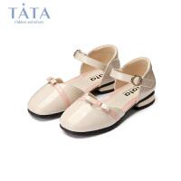 【3折价:134.4元】他她TATA童鞋女童皮鞋2020春季新款中大童时尚浅口单鞋女孩软底演出鞋