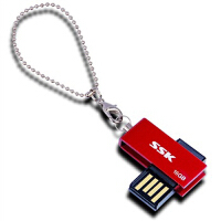【大部分地区包邮】飚王(SSK)诱惑U盘(SFD042) 16G(红色)很小巧的优盘,全金属