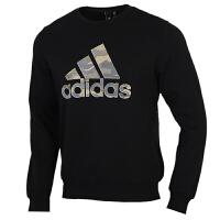 Adidas阿迪达斯男装运动服休闲圆领卫衣套头衫GH4412