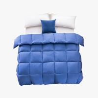 当当优品双人冬被 水洗棉纯色羽丝春秋被芯200x230cm被子 蓝色