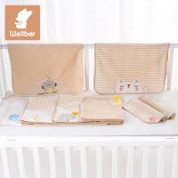 威尔贝鲁 宝宝隔尿垫防水纯棉婴儿尿布垫 新生儿隔尿床垫防漏