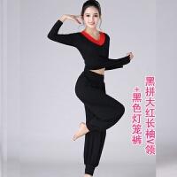 2018广场舞服装新款套装夏季秋季长袖莫代尔萝卜裤跳舞运动衣服女