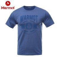 Marmot/土拨鼠户外运动透气轻薄弹力男士短袖棉感速干T