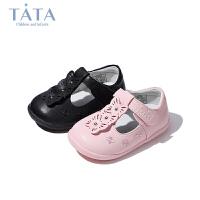 【159元任选2双】他她tata童鞋女童休闲皮鞋时尚公主单鞋宝宝婴幼童春秋