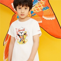 【新款5折特惠价:84元】探路者童装 2021夏新品中国元素童趣潮酷男童短袖T恤QAJJ83365