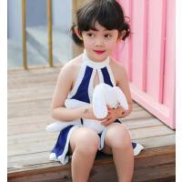 连体保守儿童游泳衣女童女孩泳装比基尼套装宝宝小中大童泳裤 支持礼品卡