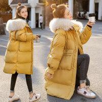 中长款大衣韩版宽松棉袄冬季棉衣孕妇孕后期冬装外套