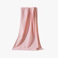 当当优品家纺浴巾 纯棉抗菌防臭毛巾吸水沙滩巾 60x120 浅粉