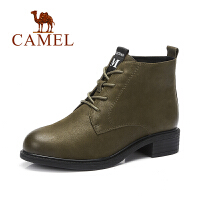 camel骆驼女鞋 春季新品短靴 时尚纯色马丁靴 简约时尚女靴子
