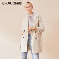 ERAL/艾莱依双面呢大衣女2018秋季新款宽松外套女617072014