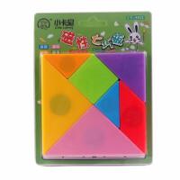 磁性七巧板 幼儿园小学生一年级图形认知板 智力拼图教具