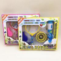 学生实验文具套装科学指南针+放大镜+手电筒组合学习用品毕业礼物