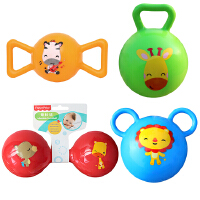 【当当自营】费雪(Fisher Price)儿童玩具球四合一(4寸摇铃球绿色+哑铃球红色+糖果球黄色+拉拉球蓝色)