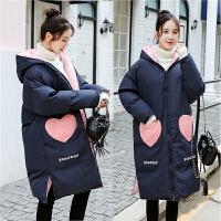 韩版中长款宽松棉袄怀孕期冬季外套潮孕妇冬装加厚棉衣