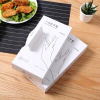 一次性手套100只抽取盒装透明卫生塑料薄膜手套透明手套美容厨房家用防水手套