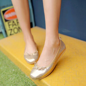 O'SHELL欧希尔新品057-1520韩版平底鞋女士豆豆鞋