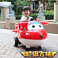 【满199立减100】正版超级飞侠 儿童电动车摇摆车可坐双驱动遥控玩具车男女孩童车