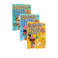 Summer Brain Quest:Between Grades 3-4 4-5 5-6 三册 大脑任务 假期练习册 英文原版 美国学前全科练习获奖系列绿山墙