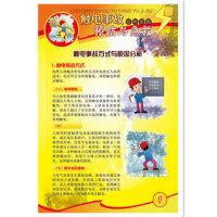 【正品包票现货】 安全月宣传海报 触电事故预防与急救宣教挂图 6张/套