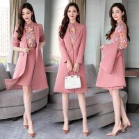 2018新款女装套装时尚套装裙女2018秋季新款韩版小香风气质显瘦中长款长袖三件套