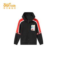【1件45折到手价:98.55】361度童装男童针织外套2021春季小童休闲外套