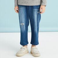 【2件3折后到手价:131.7元】马拉丁童装男童牛仔长裤春装2019