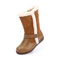 【秒杀价:99元】思加图童鞋女童雪地靴冬季保暖清仓休闲鞋