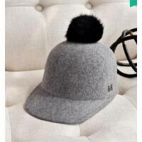 新品 毛呢礼帽 优雅气质复古帅气毛球马术帽 女士英伦风帽子 支持礼品卡