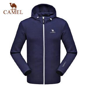 camel骆驼情侣款运动卫衣 男女开胸带帽舒适时尚卫衣