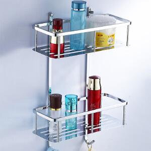 贝乐BALLEE浴室方形置物网篮角篮置物架卫浴挂件五金