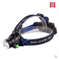 变焦T6户外头灯强光超亮远射LED钓鱼灯矿灯充电头戴式手电筒 可礼品卡支付