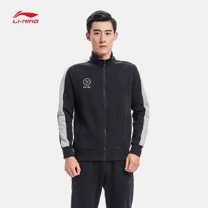 李宁卫衣男士篮球系列开衫长袖外套休闲上衣男装运动服AWDM801