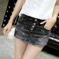 春新款牛仔裤裙裤 女式韩版修身显瘦破洞牛仔薄款热裤