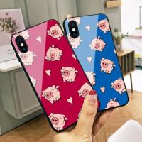 爱心小猪苹果x手机壳新年猪年iPhone7plus保护套女个性创意6s防摔网红8情侣XS max潮男Xr潮款本命年6p