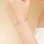 茵曼 银手链女韩版简约学生森系闺蜜个性几何首饰品清新百搭手镯 3860