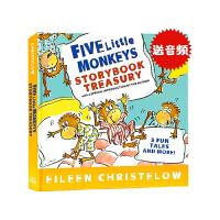 顺丰发货 The Five Little Monkeys 五只小猴子英文原版 5个故事精装合辑 廖彩杏书单 儿童合辑精