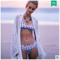 流苏沙滩罩衫镂空针织薄比基尼罩衫女开衫蝙蝠袖中长款夏时尚宽松 可礼品卡支付