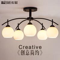 东联现代简约LED客厅灯吸顶灯具美式乡村田园卧室餐厅灯房间灯饰x52