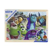 【当当自营】迪士尼拼图玩具 60片木质框式拼图-怪兽大学36DF2488