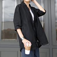 干练短款风衣 2018春秋新款韩版大码女装宽松简约休闲外套