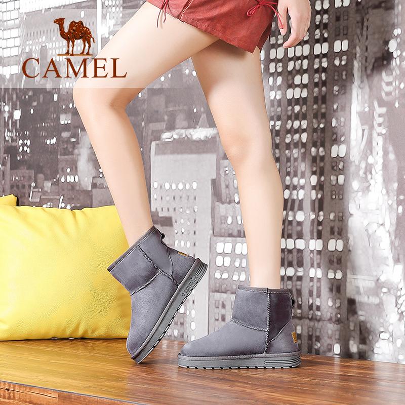 camel骆驼女鞋 保暖雪地靴加厚防寒短靴简约平底女靴子秋季焕新 全场满59元包邮