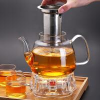 小大号过滤泡茶壶透明加厚烧水壶套装家用茶器玻璃茶具