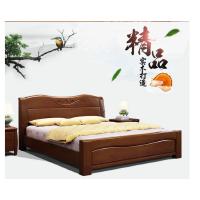 鑫宣美XM-C026中式橡木实木床含2个床头柜席梦思床垫