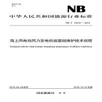 NB/T 10218―2019 海上风电场风力发电机组基础维护技术规程