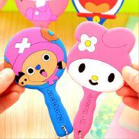 日韩国可爱卡通动物随身小镜子 女生便携式带手柄化妆镜子
